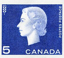 Canada 1963 Queen Cameo Series Postage Stamp - Wheat by Deb Richardson