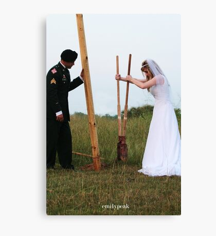 Marriage is Hard Work Canvas Print