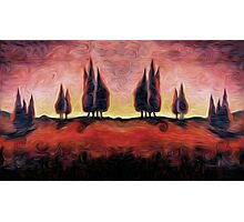 Tuscany Dreams Oil Painting Photographic Print