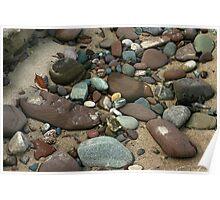 rocky beach lake superior Poster