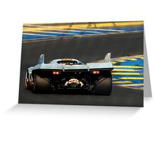 Porsche 917 into Tertre Rouge Greeting Card