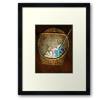 Old Basket, New Yarn Framed Print