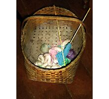 Old Basket, New Yarn Photographic Print
