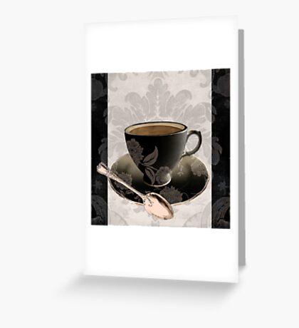 Vintage Cafe III Greeting Card