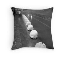 Weggis street sculptures Throw Pillow