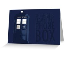 Blue Tardis Greeting Card