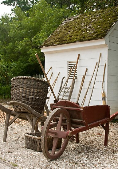 Colonial Garden Tools  by Vanessa Goodrich