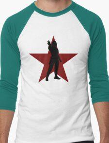 Winter Soldier Silhouette  Men's Baseball ¾ T-Shirt