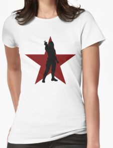 Winter Soldier Silhouette  Womens Fitted T-Shirt