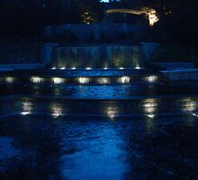 Reflect on the color blue - Fountain at Botanical Gardens, Atlanta, GA by deathbybbq