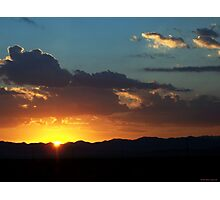 Sunrise Across Nevada Photographic Print