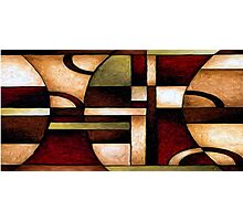 Abstract Geometry Oil Painting Photographic Print