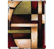 Abstract Geometry Oil Painting iPad Case/Skin