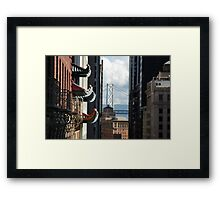 Bay Bridge from California Framed Print