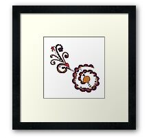 Henna Tattoo Flowering Heart Framed Print