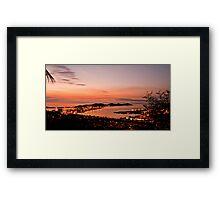 Sunset - Noumea Framed Print