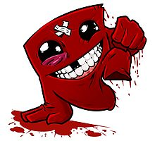 Funny Super Meat Boy Photographic Print