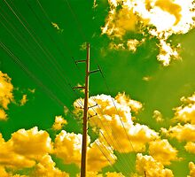 Power Lines Power Sky by Dr. Charles Taylor