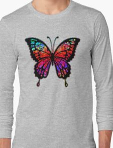 Psychedelic Butterfly Long Sleeve T-Shirt