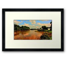Assiniboine River...HDR Framed Print