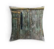 The Weathered Barn Door Throw Pillow