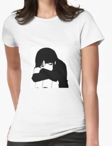 Scared Womens Fitted T-Shirt