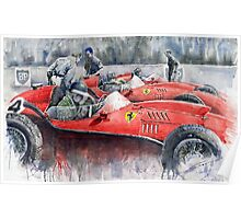 Ferrari Dino 246 F1 1958 Mike Hawthorn French GP Poster