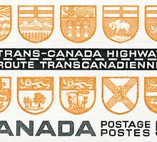1962 Trans-Canada Highway postage stamp by Deb Richardson