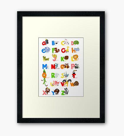 ABC (english) Framed Print