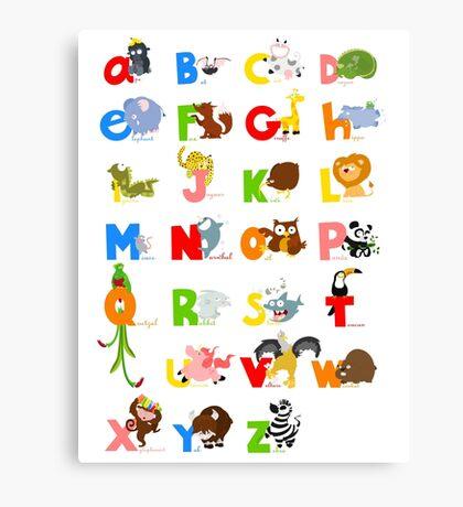 ABC (english) Canvas Print