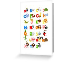 ABC (english) Greeting Card