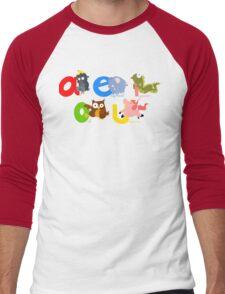 vowels Men's Baseball ¾ T-Shirt