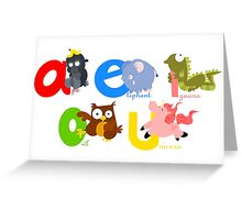 vowels Greeting Card