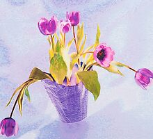 Tulips In A Pot by Diane Macdonald