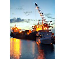Grand Cayman Port by Night Photographic Print