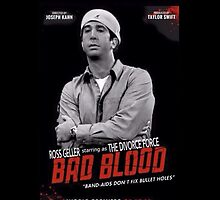 Ross Geller 'Divorce Force' Bad Blood poster iPhone case by lucyc13