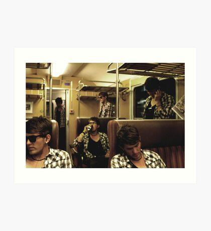 midnight train delays Art Print