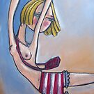 Pink Stripey Bloomers by Lisa Coutts