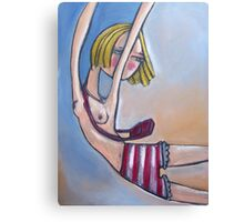 Pink Stripey Bloomers Canvas Print