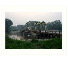 Bridge Over the Assiniboine River  Art Print
