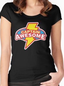 Captain Awesome Women's Fitted Scoop T-Shirt