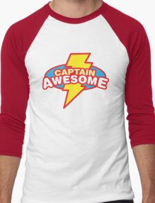 Captain Awesome Men's Baseball ¾ T-Shirt
