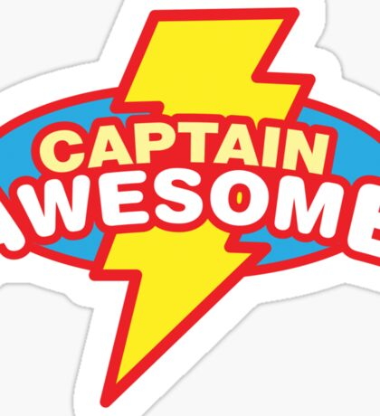 Captain Awesome Sticker
