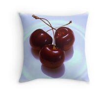 Cherry Times  Throw Pillow