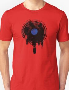 Melting Vinyl Records Vintage Blue Art T-Shirt