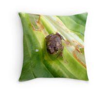 Feelin Froggy, well are ya punk? Throw Pillow