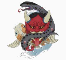 Oni Mask Tattoo Kids Tee