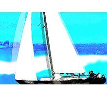 glacier.. sailing artic waves Photographic Print
