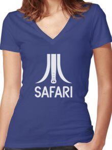 Atari Safari Women's Fitted V-Neck T-Shirt