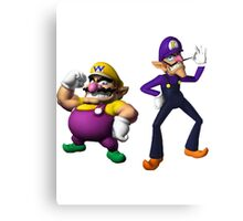 Wario and Waluigi Canvas Print